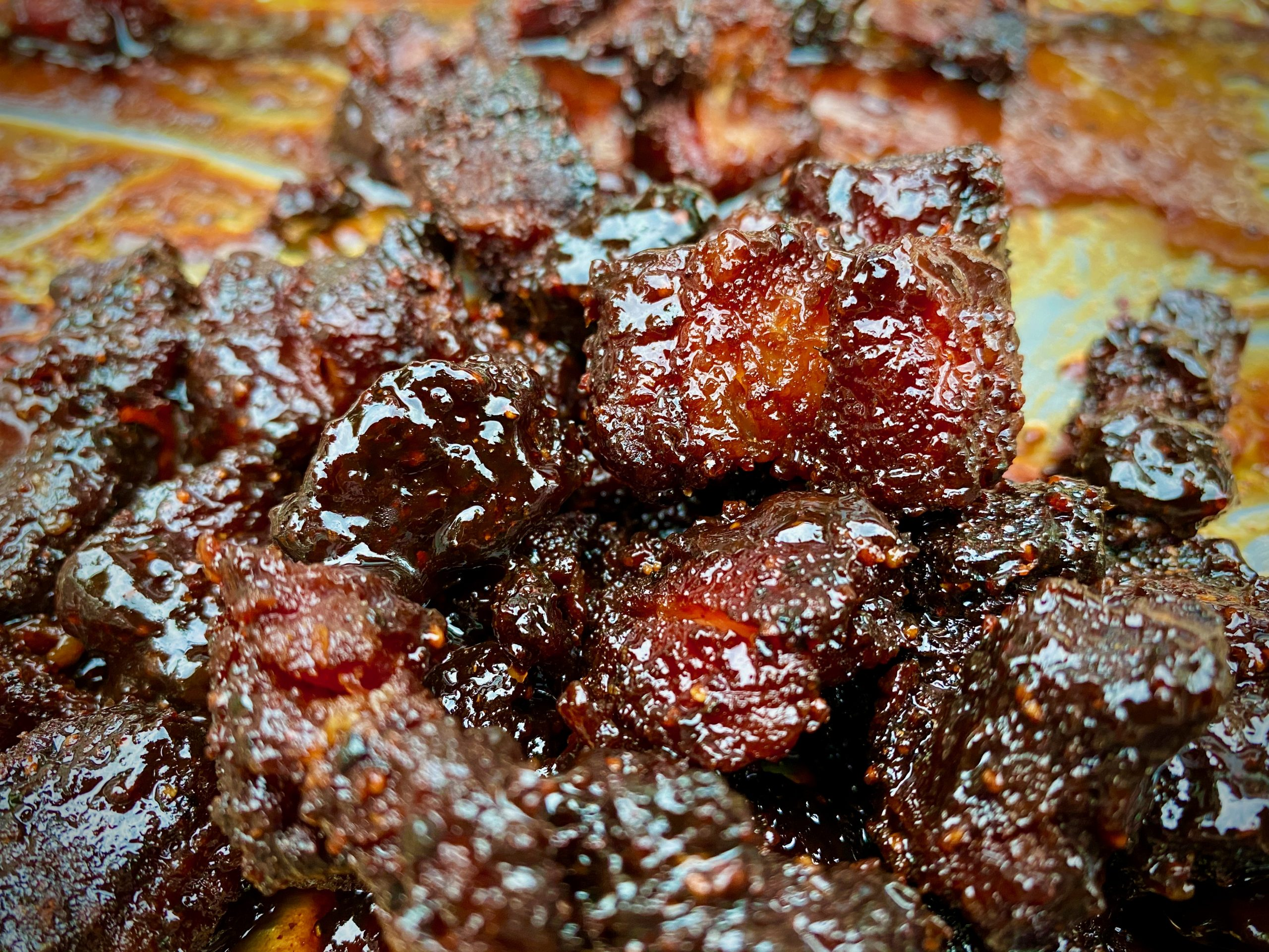 Pork Belly Burnt Ends vom Smoker – Meat Candy